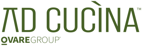 Green text logo saying Ad Cucina and Ovaregroup underneath