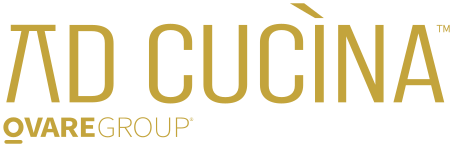 Gold logo that says Ad Cucina